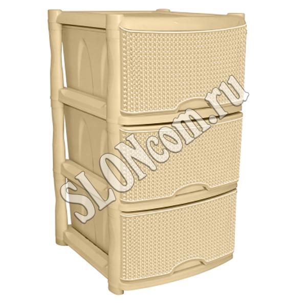 Комод универсальный Ajur 3-секционный, слоновая кость | Комоды | Купить по оптовой цене | Продажа оптом и в розницу, с доставкой